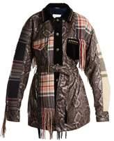 Maison Margiela Checked and python-print jacket