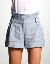 ASOS Linen Stripe Paperbag Short