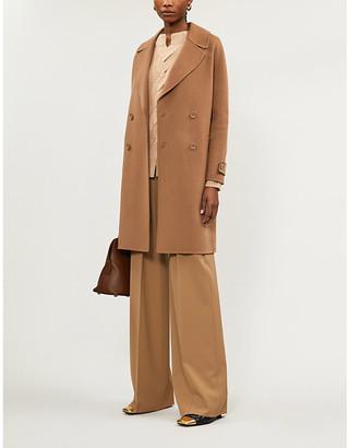 S Max Mara Maga double-breasted wool coat