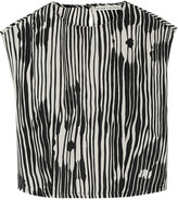 Alice + Olivia Danae printed silk-chiffon top