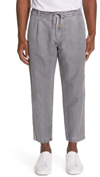 81dd8fb9 Spray Paint Cotton & Linen Jogger Trousers