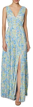 Laundry by Shelli Segal Printed Pleated Gown