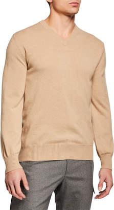 Brunello Cucinelli Men's Shetland Leisure Volume Cashmere Sweater
