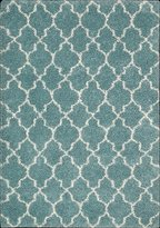Nourison 17193 Amore Area Rug Collection Aqua 7 ft 10 in. x 10 ft 10 in. Rectangle