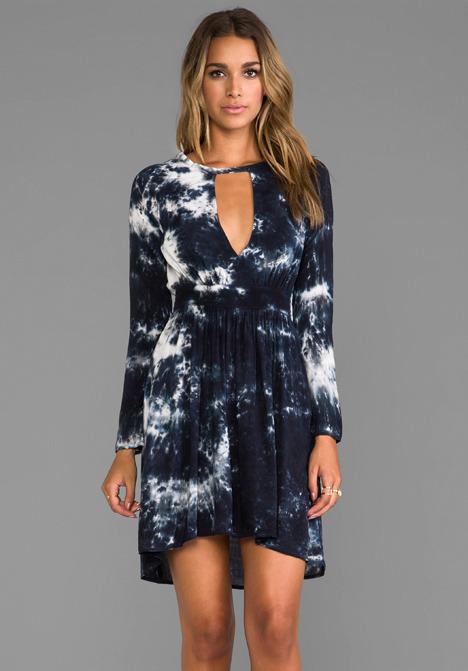 Blu Moon V-Waisted High Low Dress