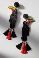 Mercedes Salazar Woven Bird Drop Earrings