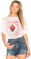 Wildfox Couture Heirlooms Tee in Ivory. - size L (also in M,S,XS)