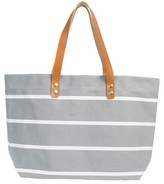 Cathy's Concepts Monogram Stripe Tote - Grey