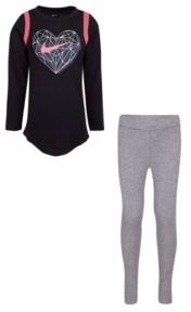 Nike Little Girls T-shirt and Leggings Set