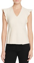 Rebecca Taylor V-Neck Suiting Top