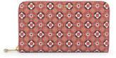 Henri Bendel West 57th Foulard Print Zip Around Continental Wallet