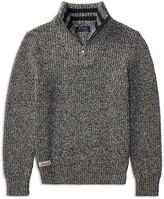 Ralph Lauren Boys' Marled Quarter-Zip Sweater - Big Kid