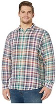 Tommy Bahama Valverde Plaid Linen Shirt (Summer Night) Men's Clothing
