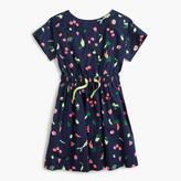 J.Crew Girls' bow-back dress in eat-your-veggies print