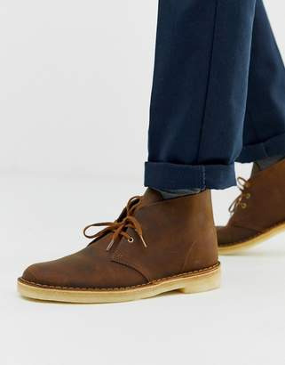 Clarks desert boots in beeswax leather-Brown