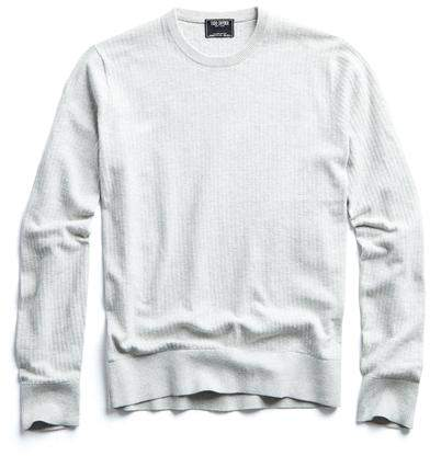 Todd Snyder Cotton Crewneck in Silver
