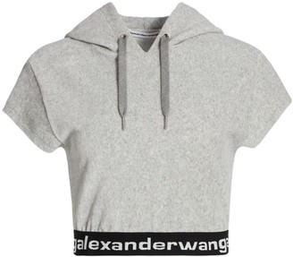 Alexander Wang Stretch Corduroy Hooded T-Shirt
