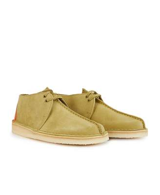 Clarks Suede Desert Trek Shoes Colour: KHAKI, Size: UK 9
