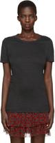Etoile Isabel Marant Black Linen Kiliann T-shirt
