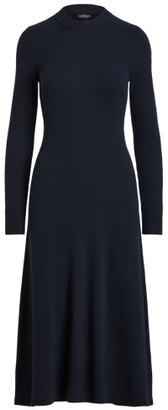 Lauren Ralph Lauren Ralph Lauren Wool-Blend Long-Sleeve Sweater Dress