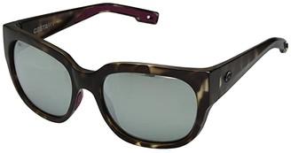 &'Costa Costa Waterwoman (Gray Silver Mirror 580G/Matte Shadow Tortoise Frame) Fashion Sunglasses