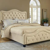 Asstd National Brand Liana Upholstered Bed with Nailhead Trim