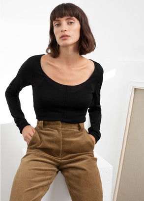 And other stories Scoop Neck Fitted Wool Top