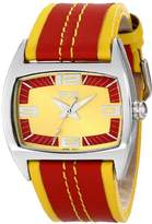 EOS New York Men's 38LREDYEL Striker Two Tone Leather Strap Watch
