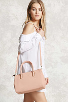 Forever 21 FOREVER 21+ Textured Crossbody Satchel
