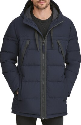 Andrew Marc Holden Water Resistant Down & Feather Fill Quilted Coat