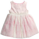 Sweet Heart Rose Sweetheart Rose Baby Girls Roundneck Sleeveless Jacquard Dress