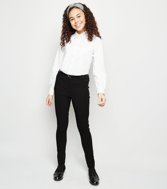 New Look Girls Belted Super Skinny Trousers