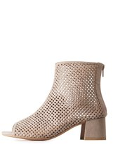 Charlotte Russe Qupid Perforated Peep Toe Booties