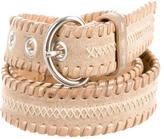 Prada Suede Woven Waist Belt