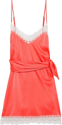 Miguelina Charlotte Silk-charmeuse Mini Dress