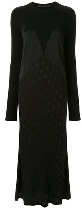 Haider Ackermann Panelled Polka Dot Dress