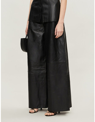 Camilla And Marc Axel wide-leg high-rise leather trousers