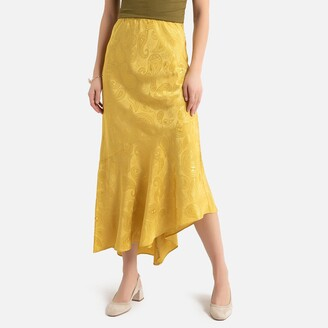 La Redoute Collections Asymmetric Ruffled Maxi Skirt
