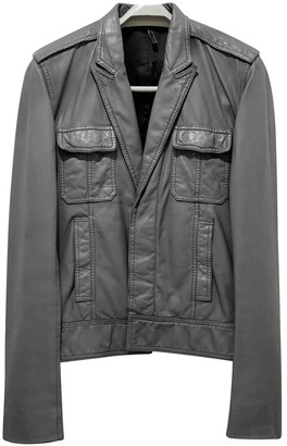 Christian Dior Grey Leather Jackets