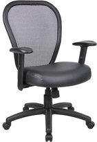 BOSS Professional Managers Mesh Chair with Bonded Leather Seat