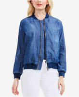 Vince Camuto TWO by Cotton Denim Bomber Jacket