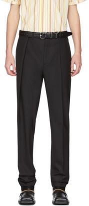 Y/Project Black Wool Oversized Waist Trousers