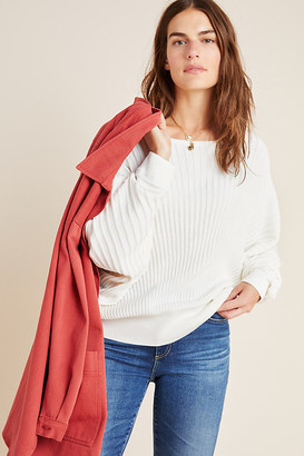 Anthropologie Karla Boat Neck Sweater By in White Size XS
