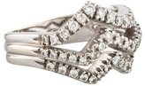 Damiani Diamond Three-Row Wave Ring