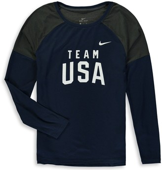 Nike Women's Navy Team USA Tailgate Long Sleeve Performance T-Shirt