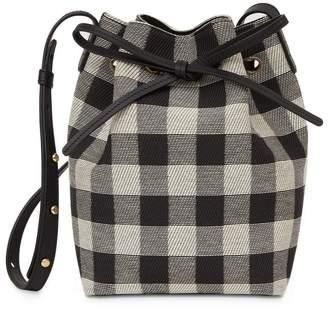 Mansur Gavriel Checker Mini Bucket Bag - Black