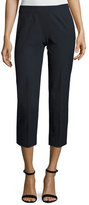 Piazza Sempione Audrey Stretch-Cotton Cropped Pants, Navy