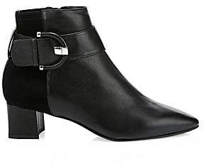 Aquatalia Women's Phiona Leather Ankle Boots