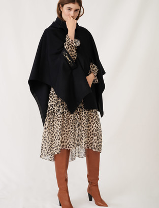 Maje Cape-style wool coat
