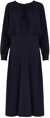 Victoria Victoria Beckham Navy midi dress